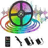 UOUNE UOUNE Dreamcolor LED Strip 5M Sync mit Musik/mit eingebautem IC/ IP65 Wasserdichte/ 150 LEDS 5050 SMD/RF Fernbedienung RGB Led Streifen für Deko Party