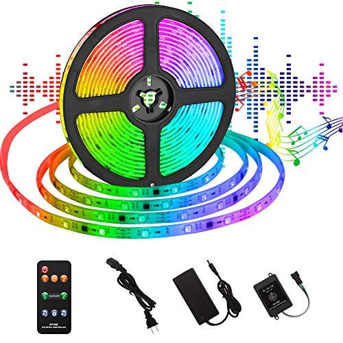 UOUNE Dreamcolor LED Strip 5M Sync mit Musik/mit eingebautem IC/ IP65 Wasserdichte/ 150 LEDS 5050 SMD/RF Fernbedienung RGB Led Streifen für Deko Party