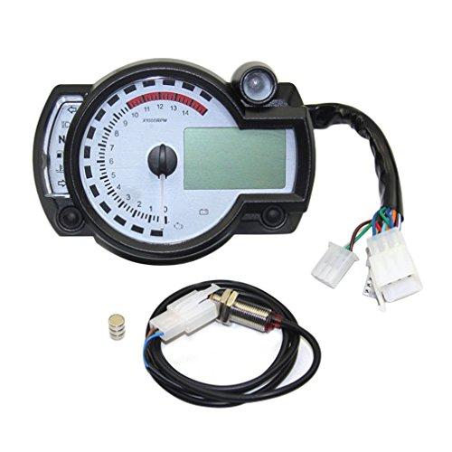 Digital Odometer Gauge : Universal motorcycle digital odometer adjustable lcd
