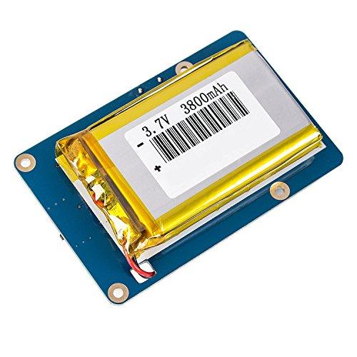 Preisvergleich Produktbild WINGONEER Lithium-Akku-Erweiterungskarten-Netzteil mit Schalter für Himbeer-Pi 3 Modell B, 2 Modell B und 1 Modell B + Banana Pi 3800mAh 5V / 1.8A
