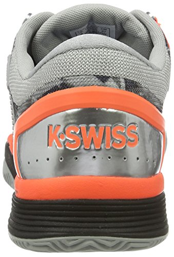 K-Swiss Performance Hypercourt 2.0 Hb, Scarpe da Tennis Uomo Grigio (Highrise/black/neon Blaze)