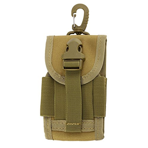 Tracffy 5.0-5.7 inch Outdoor Universal Army Tactical CellPhone Bag for Mobile Phone Hook Cover Pouch Case - Coyote Brown Universal Mobile Pouch