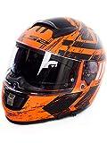 LS2 Motorradhelm FF397 VECTOR FT2 HUNTER MATT Orange Schwarz, Schwarz/Orange, L