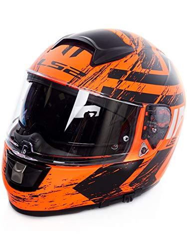 LS2 Casco da moto FF397 VECTOR FT2 Hunter Matt Orange Black, Noir/Arancione, XL