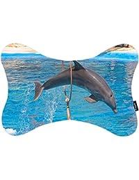 i FaMuRay Almohada del Cuello Almohada de Viaje Dolphin Jumping Through Hoop