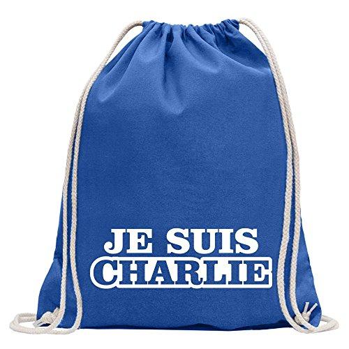 KIWISTAR - Je Suis Charlie Ich bin Paris Turnbeutel Fun Rucksack Sport Beutel Gymsack Baumwolle mit - Hebdo Charlie Frankreich
