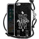 DeinDesign Apple iPhone 6s Plus Carry Case Hülle Zum Umhängen Handyhülle mit Kette Pietro Lombardi Alessio Spruch