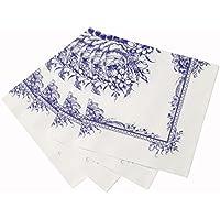 Talking Tables - Tovaglioli di carta con decorazione floreale, confezione da 20 pezzi, 33 cm, colore: Blu