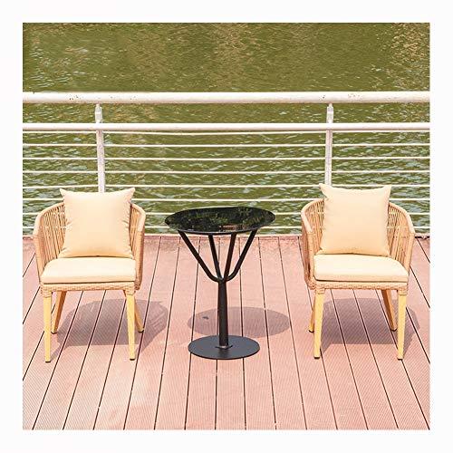 Cane-rattan-möbel (YMXLXL Handgewebte Cane Chair, Outdoor-Tisch Und Stuhl Kombination Rattan Stuhl Gartentisch Regenschirm Korbstuhl,B)