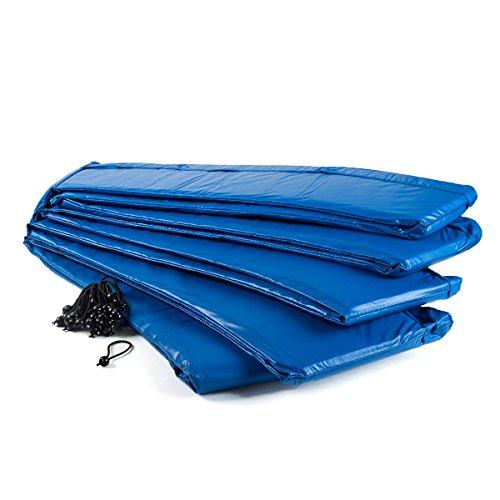 Ampel 24 Trampolin Randabdeckung, passend für Trampolin Ø 430 cm, Federabdeckung reißfest und UV-beständig, Schutzrand blau
