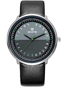 Skone Herren Schwarz Minimalismus Design Sport Outdoor Moderne Armbanduhren 12H