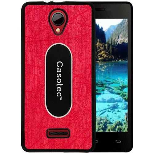 Casotec Metal Back TPU Back Case Cover for Micromax Canvas Fun A76 - Red  available at amazon for Rs.319