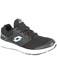 LOTTO MEN FUSTAL BLACK/R. BLUE RUNNING Shoes 10 UK/INDIA