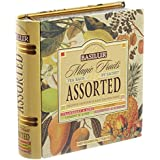 basilur té libro Assorted Magic frutas en lata de metal para té (Pack de 32)