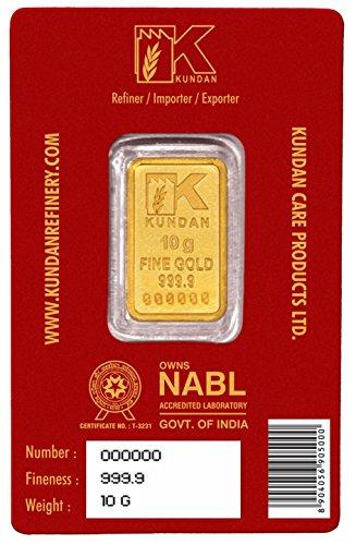 Kundan NABL Certified 10 gm, 24k(999.9) Yellow Gold Kalpataru Tree Precious Coin
