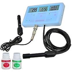 Medidor 6en1 de pH y Conductividad (EC/TDS/CF) con Temperatura (PHT-026)