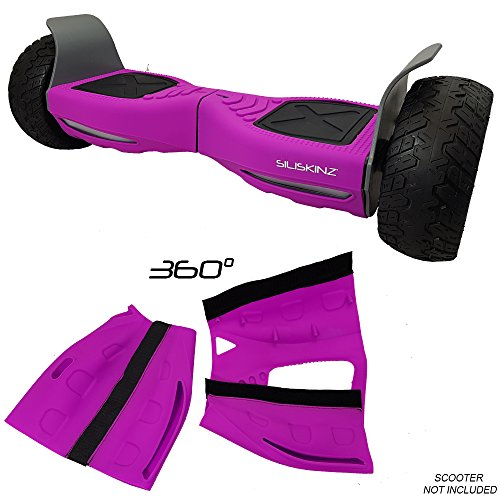 "Siliskinz® 360 Grad Hoverboard Silikon Jelly Case Cover - Für alle Gelände 8,5\""Swegway 2 Wheel Smart Scooter (LILA)"