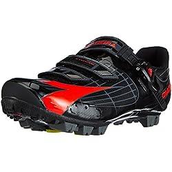 Diadora X TORNADO - Zapatillas de ciclismo de material sintético para mujer, color negro, talla 45,5