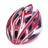 Beauty leader Erwachsene Fahrradhelm 21 Vents schlagfest, 57-62cm Kopfgröße, geringes Gewicht, verstellbare Passform PVC (Polyvinylchlorid), EPS, PC Klettern / Radfahren / Fahrrad / Mountainbike / MTB , red white