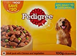 #10: Pedigree Adult Gravy Dog Food, Jelly Chicken and Vegetables, 100 g (Pack of 12)