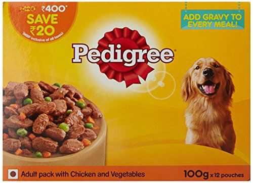 Pedigree Adult Gravy Dog Food, Jelly Chicken And Vegetables, 100 G (Pack Of 12)