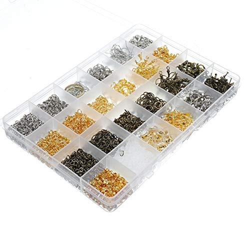 ChaRLes Schmuck Erkenntnisse Starter Kit Schmuck Perlen Machen Und Reparatur Werkzeuge Kit Perlen Draht Starter-Tool - B