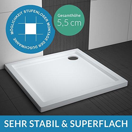 Preisvergleich Produktbild Duschwanne AQUABAD® Comfort Villa Flat 80x80cm Superflach Quadrat