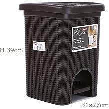 Cubo para reciclaje 20Lt cubo para basura Elegance la Stefanplast Color Moka wengué