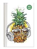 Collegetimer Pineapple 2019/2020 - Ananas - Schülerkalender A6 (10 x 15) - Weekly - 224 Seiten - Terminplaner
