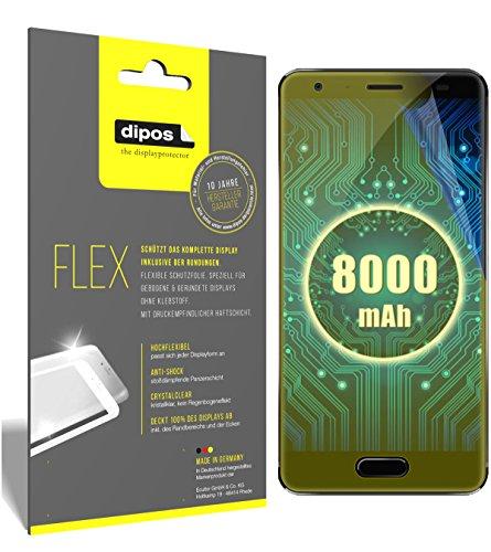 dipos I 3X Schutzfolie 100% passend für Oukitel K8000 Folie (Vollständige Bildschirmabdeckung) Bildschirmschutzfolie
