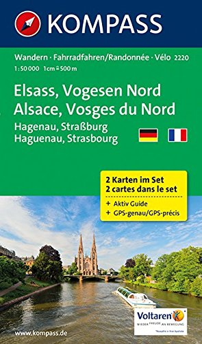 Alsace /Vosges Nord 2220 GPS 2-Set kompass +AG D/F par Kompass-Karten