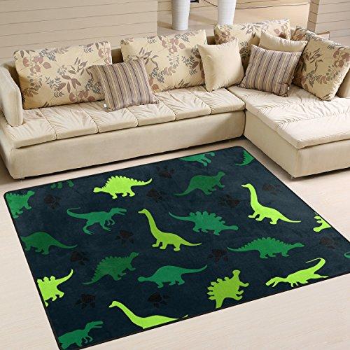 ingbags Super Weich Modern Bunt Dinosaurier auf der Abstrakt, ein Wohnzimmer Teppiche Teppich Schlafzimmer Teppich für Kinder Play massiv Home Decorator Boden Teppich und Teppiche 160x 121,9cm, multi, 80 x 58 Inch