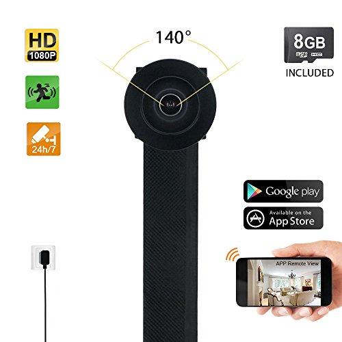 TEKMAGIC 8GB 1080P HD Mini Camara Seguridad Grabadora Espia Wifi Inalambricas por Internet Acceso Remoto de Celular iPhone Android Grabacion 24 Horas