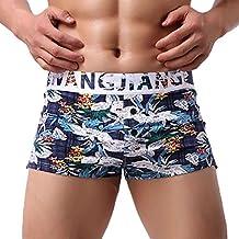272d3ab5c3f194 Kanpola Herren Shorts Boxershorts Retroshorts Aufdruck Kurze Hosen für den  Sommer Männer Unterwäsche