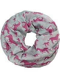 caripe Loop Schal Schlauchschal Tiere Pferde Hunde Katzen Elefant unisex - sh22