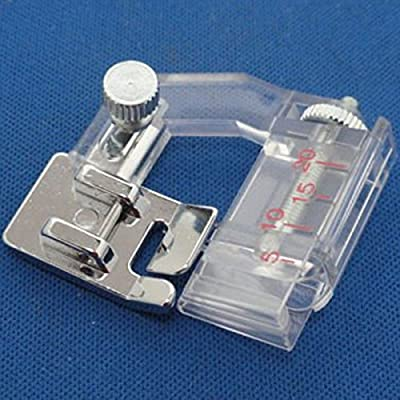 1/4 de pulgada que acolcha /Patchwork pie con guía de borde para máquinas de coser domésticas (plata)