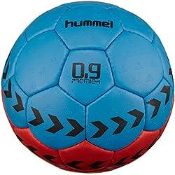 Hummel 0,9 Premier - Balón de balonmano multicolor red/blue Talla:3