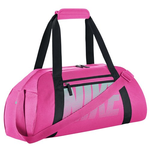Nike Damen Women's Gym Club Sporttasche, Hyper Pink/Schwarz/Hyper Türkis, One Size
