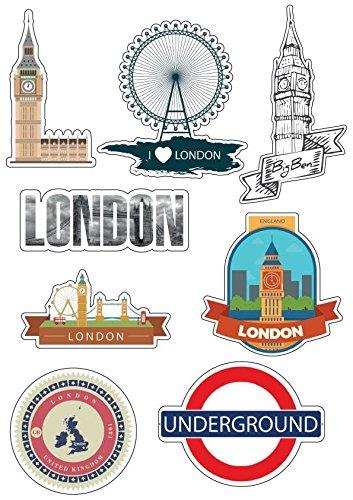 Brett A4Aufkleber-London selbstklebend Klebeband Scrapbooking-E19 (Klebeband London)