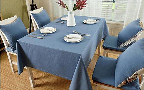 Gestalte von Baumwolle Tischdecken Tuch Esstisch Modern einfache Uni Tee Tisch Wohnzimmer Tisch rund 130*220 blau (Jason Halloween-musik)