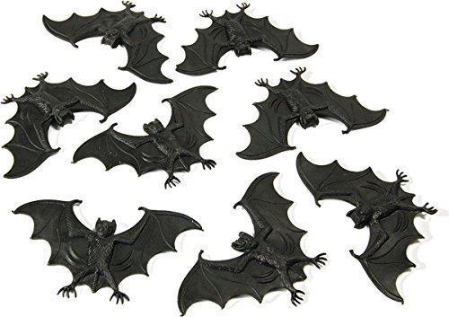 y Zubehör Scary Creatures Fledermäuse, Mäuse und Spinnen 8Stück Gr. Einheitsgröße, - Bats (Scary Halloween Spinne)