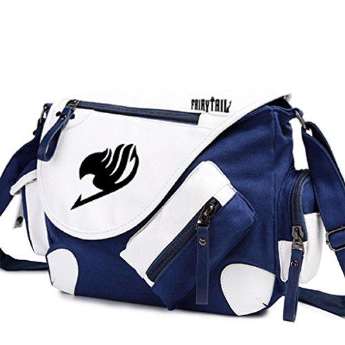 Yoyoshome giapponese anime Cosplay zaino Zaino Crossbody messenger bag borsa a tracolla nero Fairy Tail 1 Fairy Tail 4
