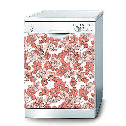 Decusto Cherry Flowers Wandtattoo für Spülmaschine