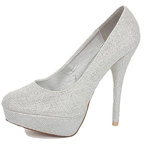 083d5b4b6e9d Beautiful Silver High Heels - Heels Zone