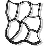 @tec Betonform Schalungsform Gießform Plastikformen für Beton, Natursteinpflaster-, Kopfsteinpflaster-Schablone, Pflastersteine, Terrassenplatten, Trittplatten und Gehwegplatten für Garten 60x50x5 cm