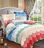 Magnetic Shadow Cotton AC Comforter Duvet Set with Bedsheet (Multicolour, Queen Size)