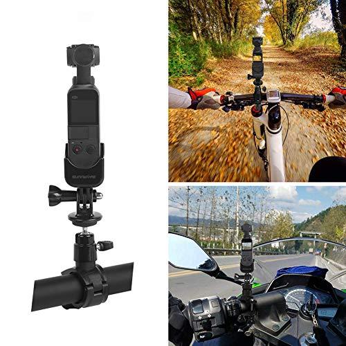 Rantow Osmo Taschen-Fahrradhalterung, Universal-Fahrradhalterung, Motorradständer, kompatibel mit DJI Osmo Pocket Gimbal Kamera
