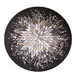 HLHHL-Carpet Teppich Polyester Runde Bereichs Wolldecken Maschine Gesponnenes Braunes Diamantformmuster Boden-Sitz-Auflagehauptdekoratives Innen