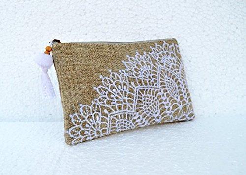 VLiving Leinen, Crochet Muster Bestickt, 12,7x 22,9cm