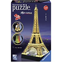 Ravensburger - 3D Puzzle Building Tour Eiffel Night (12579 1) - Peluches y Puzzles precios baratos